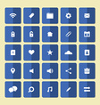 Square Flat Website Icons Set vector image vector image