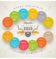 Calendar 2015 template with hipster style elements vector image