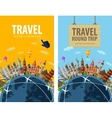 travel journey trip logo design template vector image