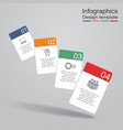 Infographic report template with cards and icons vector image