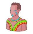 Australian aborigine icon cartoon style vector image