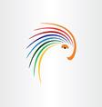 color bird parrot icon design vector image