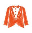 elegant masculine dress icon vector image