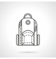 Flat line design backpack icon vector image