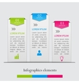 Infographics business elements vector image