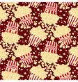 Seamless popcorn bag background vector image
