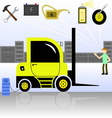 service and diagnostics forklift vector image