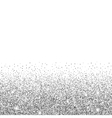 silver glitter background vector image
