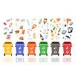 waste management concept segregation separation vector image