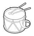Toy drum icon outline style vector image