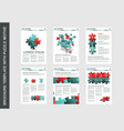 brochure flyer design template with puzzle vector image