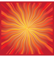 Radiating sun vector image