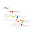 Infographic diagonal timeline report template vector image
