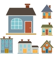 family houses vector image vector image
