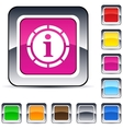 information square button vector image vector image