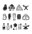 Barbecue and craft beer icons vector image