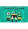 Blogging Concept Header Banner vector image