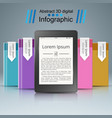 ebook book reader - business infographic vector image