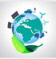 ecology earth vector image