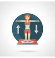 Gymnastics detailed flat color icon vector image