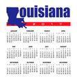 2017 Louisiana calendar vector image vector image