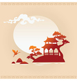 Abstract Asian Background vector image vector image