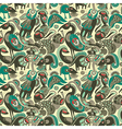 Seamless pattern with fantasy animals vector image