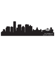 Durban South Africa skyline Detailed silhouette vector image vector image