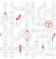 plastic pipes seamless pattern vector image