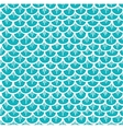 Fish Scales Seamless Pattern Cartoon Blue vector image vector image