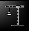 construction crane sign gray 3d printed vector image