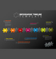 puzzle infographic timeline template vector image