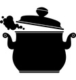 Cooking Pan silhouette vector image