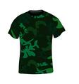 Military shirt vector image