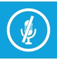 Muted microphone sign icon vector image