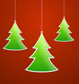 Fold Paper Christmas tree vector image vector image