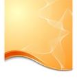 Orange high-tech background template vector image