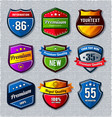 set of retro badges vector image vector image