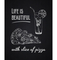 Chalk typographical background Life is beautiful vector image