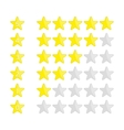 Rating stars navigation vector image