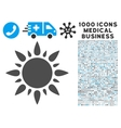 Sun Icon with 1000 Medical Business Symbols vector image