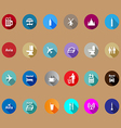 travel icons set in a flat style vector image