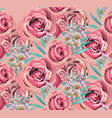 vintage rose floral pattern background vector image