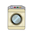 washing machine icon home appliance symbol vector image