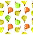 8 bit pixel seamless fruit pattern cute pattern vector image