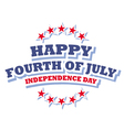 Happy Fourth of July America logo vector image