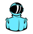 astronaut in spacesuit icon icon cartoon vector image
