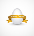 Easter eggs with gold ribbon vector image