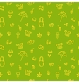 hand drawn summer seamless pattern Green vector image