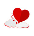heart shape with a cloud vector image
